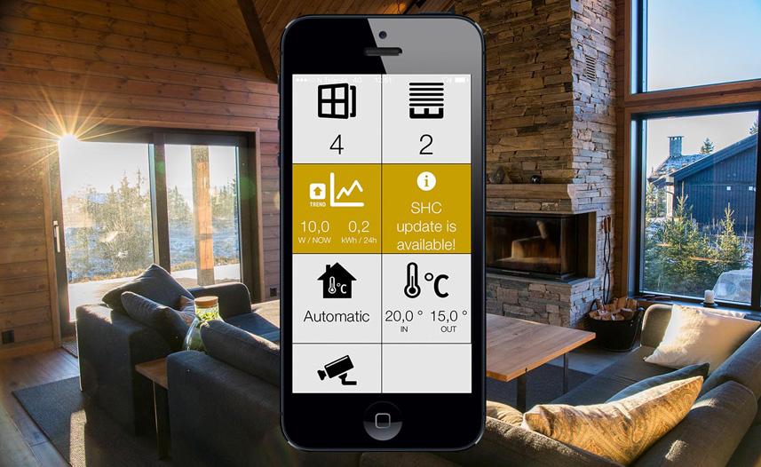 Styring av smarthus med app